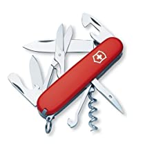 Victorinox Swiss Army 91mm/3.58in Climber Pocket Knife with Pouch, Red