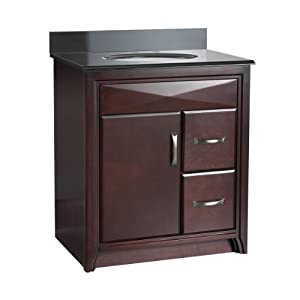 Foremost CALA3021DR Cavett 30 Inch Bath Vanity With Right Side Drawers Vani