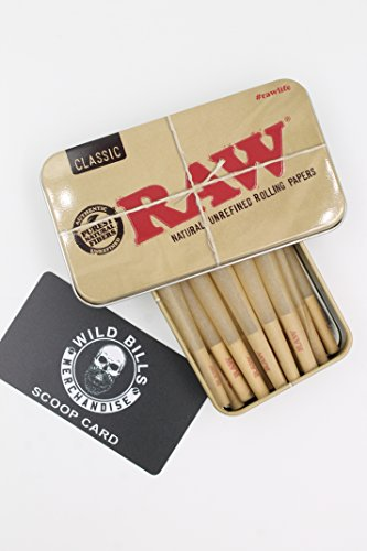 15 Raw King Size Cones With Raw Tin Carrying Case (Raw Cones Case compare prices)