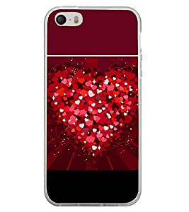 Heart of Hearts 2D Hard Polycarbonate Designer Back Case Cover for Apple iPhone 4