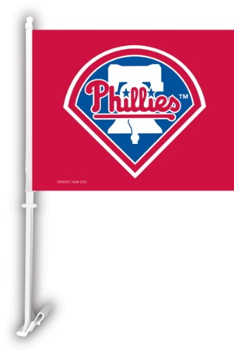 Philadelphia Phillies Car Flag W/Wall Brackett Philadelphia Phillies Car Flag W/Wall Brackett at Amazon.com