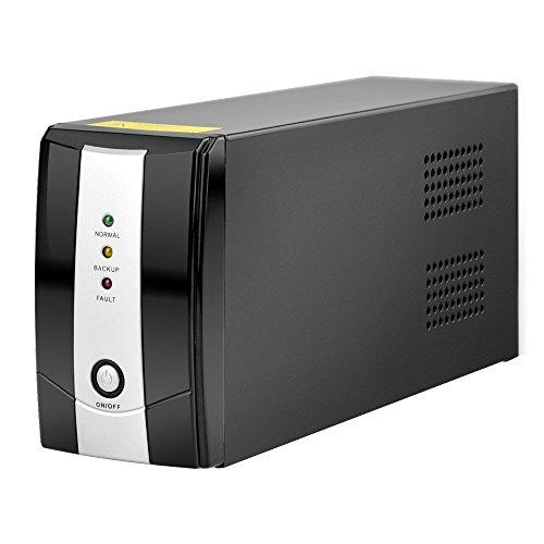 BESTEK 無停電電源装置 UPS 電源バックアップ 常時商用給電用 500VA/300W BTUPS500VA