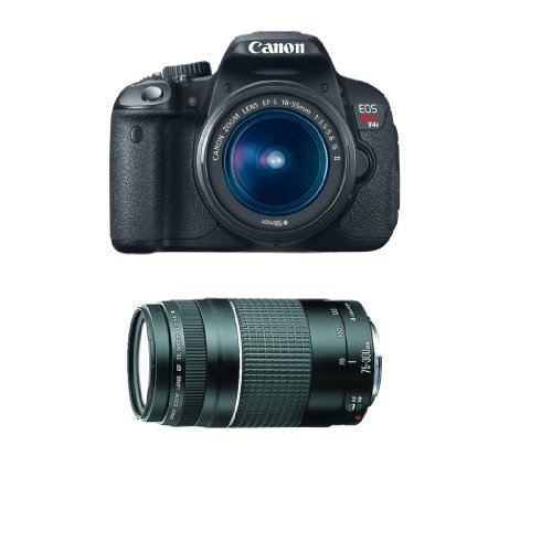 Canon EOS Rebel T4i 18.0 MP CMOS Digital SLR Camera with 18-55mm EF-S IS II Lens + EF 75-300mm Telephoto Zoom Lens image