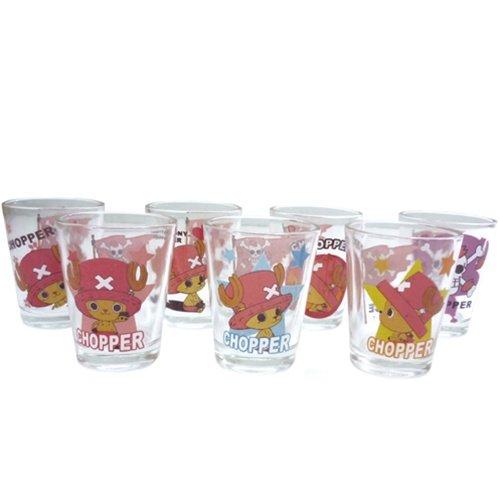 "One Piece ""Chopper / Ace"" shot glass seven set (made of glass) [Chopper] animated cartoon character goods (liquor glass) mail order (japan import)"