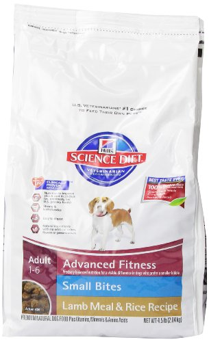 Hill'S Science Diet Adult Lamb Meal And Rice Recipe Small Bites Dry Dog Food, 4.5-Pound Bag