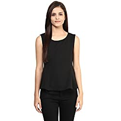 Candies by Pantaloons Women's Other T-Shirt (205000005554354_Black_S)
