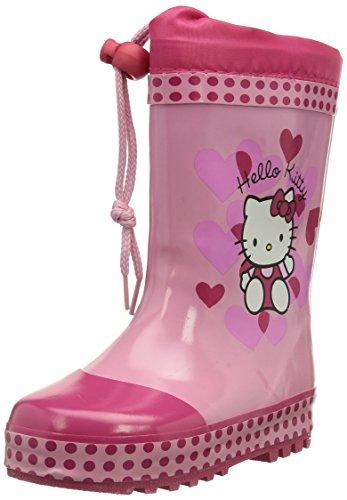 Hello Kitty, Stivali di gomma da pioggia, altezza metà polpaccio Bambina, Multicolore (Mehrfarbig (254 DFUX/PNK/FUX)), 31 (12.5 uk)