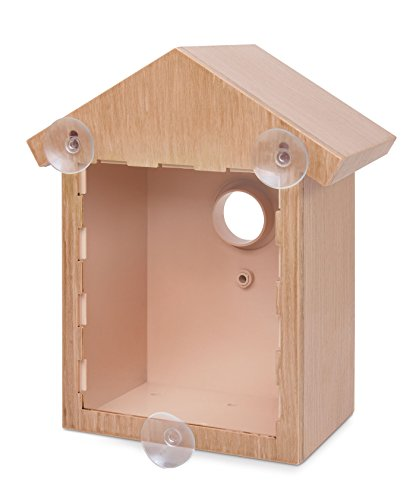 See Through Bird House, Window Birdhouse - Easy Setup - Bird