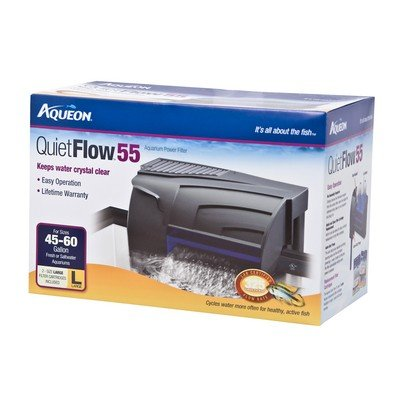 Aqueon 06078 QuietFlow 55 Power Filter, 250GPH