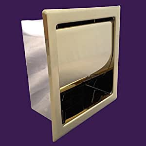 Recessed toilet paper tissue holder gold stainless steel renovator 39 s supply home - Gold toilet paper holder stand ...