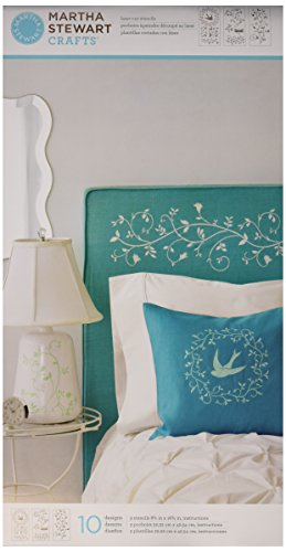 Martha stewart crafts large stencils by for Martha stewart butterfly template