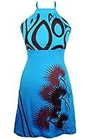 Mesdames halter robe avec un style imprimé - DIYA BLUE