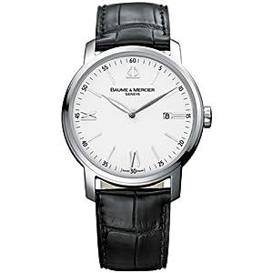 Baume Mercier Men's Classima Swiss Date Watch White A8485