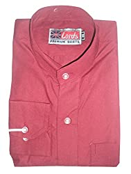 Lords Wear Men's Formal Shirt (LordsWear_Red_36)