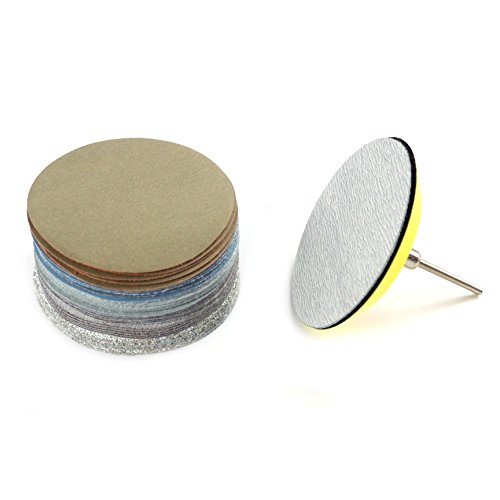 3-Inch No Holes Hook-and-Loop Dry and Wet/Dry Sanding Discs with Backing Pad,5 Each of 6 Grits (Assortment) (3 Inch Wet Sandpaper compare prices)