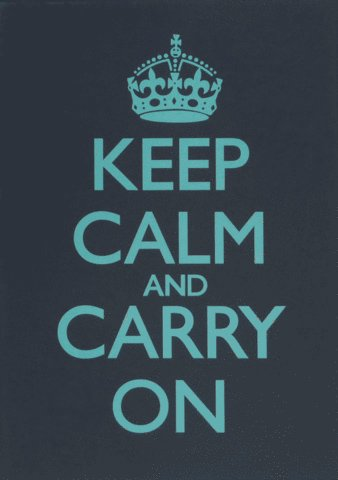 College Dorm Room Keep Calm and Carry On Charcoal Poster Print White Frame Wall Mounted 17