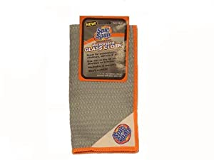 """Spic and Span Kleen Maid 00946 Grey 12"""" x 12"""" Auto Microfiber Glass Cleaning Cloth"""