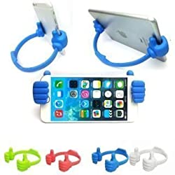 AKSHAJ Thumbs Up Table Cell Phone Holder | Table Phone Holder | GPS Holder | iPad Holder - Random Colors - 2 Years Warranty