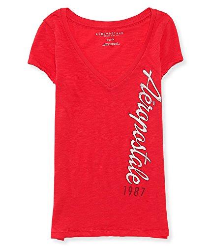 aeropostale-womens-aero-vertical-logo-v-neck-graphic-t-shirt-l-fuschia-berry