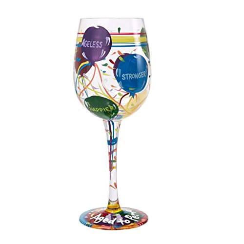 Lolita from Enesco Love My Wine Glass, Aged To Perfection (Design Wine Glasses compare prices)