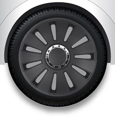 """13"""" Zoll Radzierblenden/Radkappen/Radabdeckung mit Tasche SCHWARZ ABS #6 von ZX auf Reifen Onlineshop"""