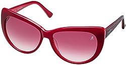 Guess Marciano UV Protected Wayfarer Women's Sunglasses - (GM705BU-5258|50|Red lens)