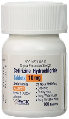 CETIRIZINE 10 MG TAB 100 [Health and Beauty] (Pack of 2)