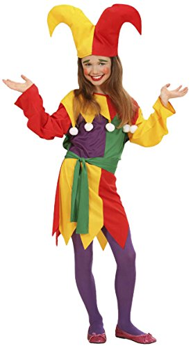 Children's Jolly Jester Costume Outfit for Clown Fancy Dress