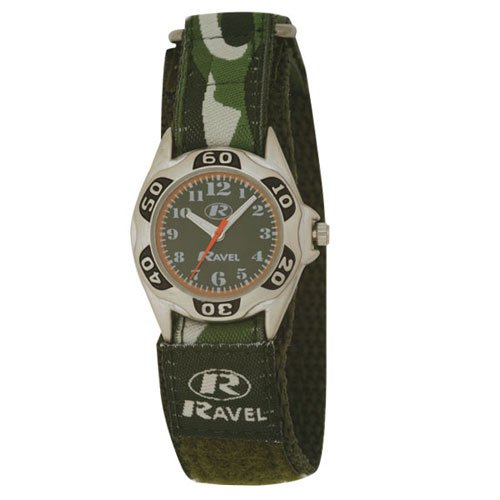 Ravel Kids Camouflage Velcro Watch