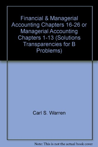 Accounting Ch 1 Solution Coursework Sample