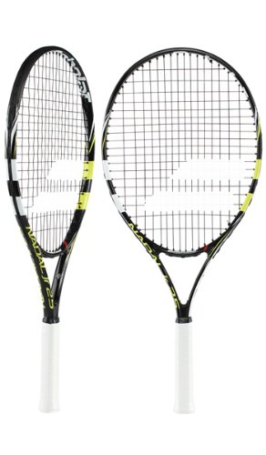 BABOLAT Nadal 25 Junior Tennis Racket, Black/Yellow
