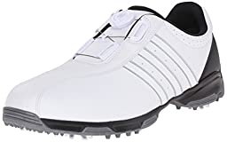 adidas Men\'s 360 Traxion Boa Golf Cleated, FTWR White/FTWR White/Core Black, 12 M US