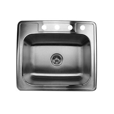 Nantucket Sinks NS2522-9 25-Inch Drop-In Stainless Steel Single Bowl Kitchen Sink
