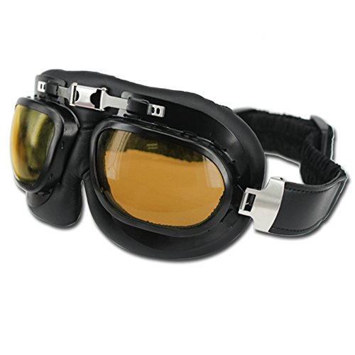 HAMIST Vintage Motorcycle Goggles Smoke & Skull Face Mask Black,Set For Cycling Multi-Purpose Seamless Tube Masks With Windproof Aviator Glasses 1