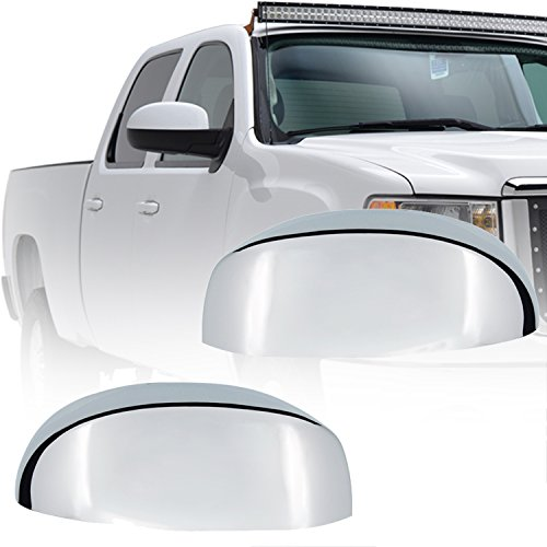 E-Autogrilles Triple Chrome Plated ABS Upper Half Replacement Mirror Cover for 07-14 GMC Yukon/Yukon XL 07-13 GMC Sierra 1500 / 07-14 GMC Sierra 2500/3500 / 07-14 Cadillac Escalade / 07-14 Chevrolet Tahoe / 07-14 Chevrolet Suburban / 07-13 Chevrolet Silverado 1500 / 07-14 Chevrolet Silverado 2500/3500 / 07-13 Chevrolet Avalanche (65-0107) (2011 Gmc Yukon Chrome Gas Cover compare prices)