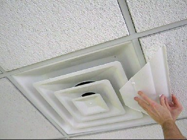 New airvisor air deflector for office ceiling vents 24 x for How to improve airflow in vents