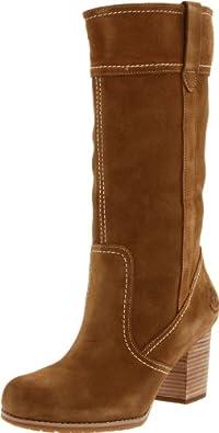 (超赞)Timberland Knee-High Boot 天木兰女式时尚真皮长深棕色筒靴 $133.65