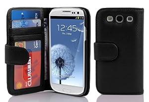 Cadorabo ®! PU Leder Muster Schutzhülle Book Style für Samsung Galaxy S3 und S3 NEO I9300 in schwarz