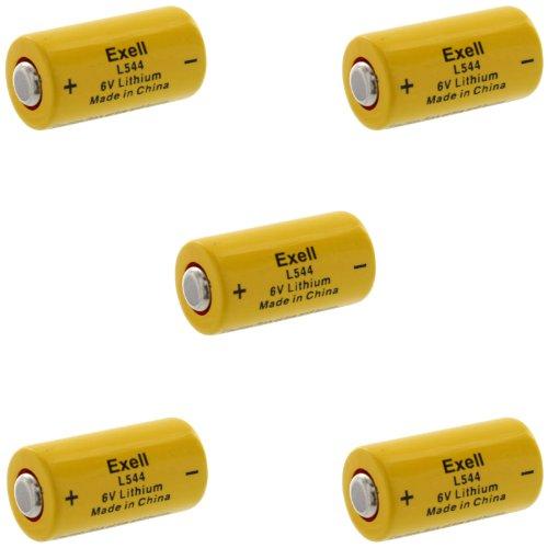 5Pc Exell L544 6V Lithium Battery Replaces K28L V28Pxl 2Cr1/3N