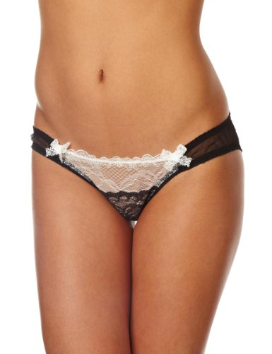 Mimi Holliday Éclair Classic Knicker Women's Knickers Black/Porcelain Medium
