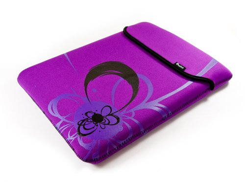 E-volve reversible neoprene sleeve case cover for netbook / laptop / notebook - Flare design - in size: 8.9 inch 9