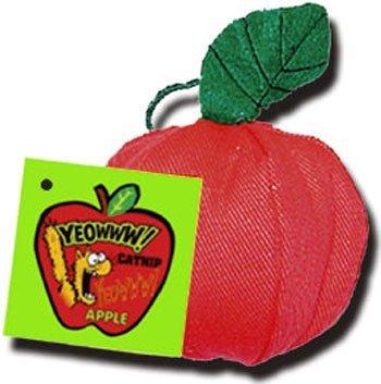 Yeowww! 100% Organic Catnip Apple Toy