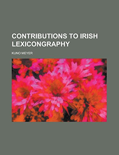 Contributions to Irish Lexicongraphy