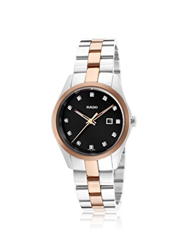 Rado Women's Hyperchrome Silver/Black Stainless Steel & Ceramos Watch