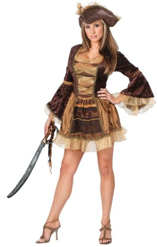 Sassy Victorian Pirate Adult Sm-Md Adult Womens Costume