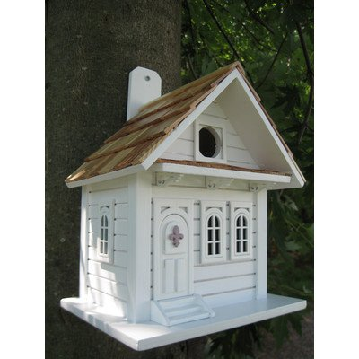 Home Bazaar Shotgun Cottage Birdhouse, White photo