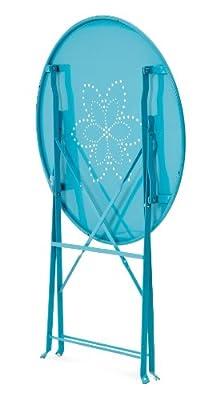 Belardo Bistro-Set Levana, Blau Klappstuhl: 42 x 46 x 80 cm, Tisch: 60 x 71 cm von Belardo auf Gartenmöbel von Du und Dein Garten