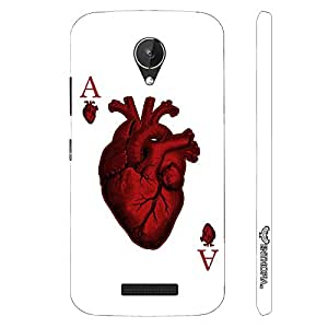 Micromax Canvas Spark Q380 Ace of Hearts designer mobile hard shell case by Enthopia