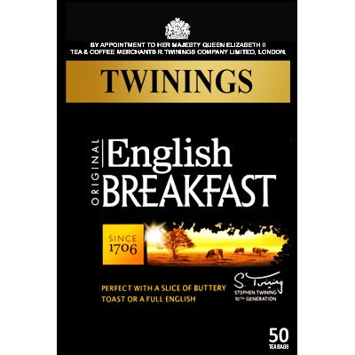 Twinings English Breakfast 50 Btl. 125g (Original englische Version) - Schwarzer Tee von Twinings bei Gewürze Shop