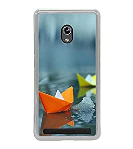 Printvisa Colourful Paper Boats 2D Hard Polycarbonate Designer Back Case Cover For Asus Zenfone 6 A600Cg